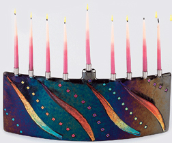Tamara Baskin Fused Glass Menorah