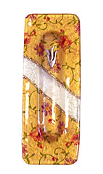 Glass Mezuzah with Pale Gold background